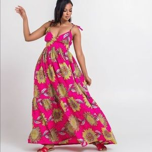 African print Crisanta Maxi Dress by Grass-Fields